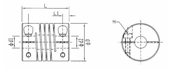 Acoplador de eixos 5 para 5mm