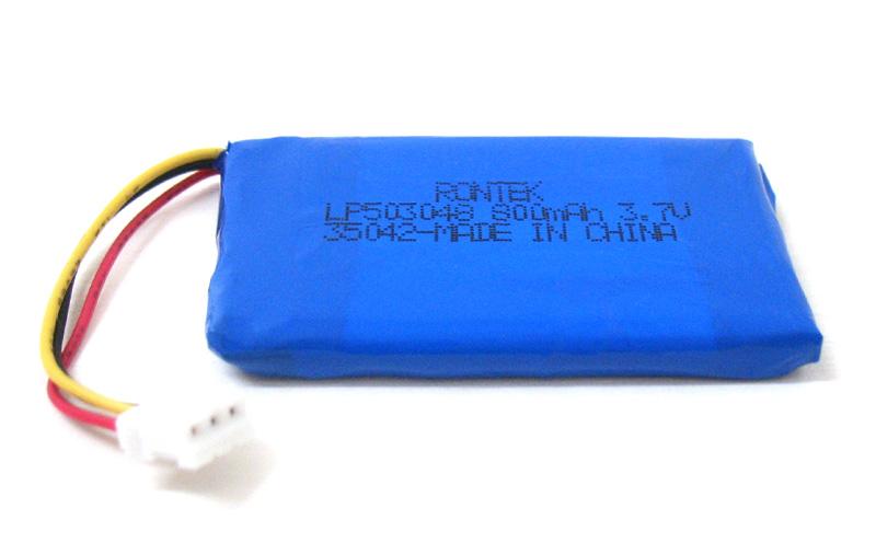 Bateria de polímero de Lítio - 800mAh 3,7v