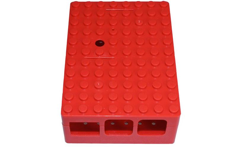 Caixa para Raspberry Pi vermelha ABS (B+/Pi 2/Pi 3)