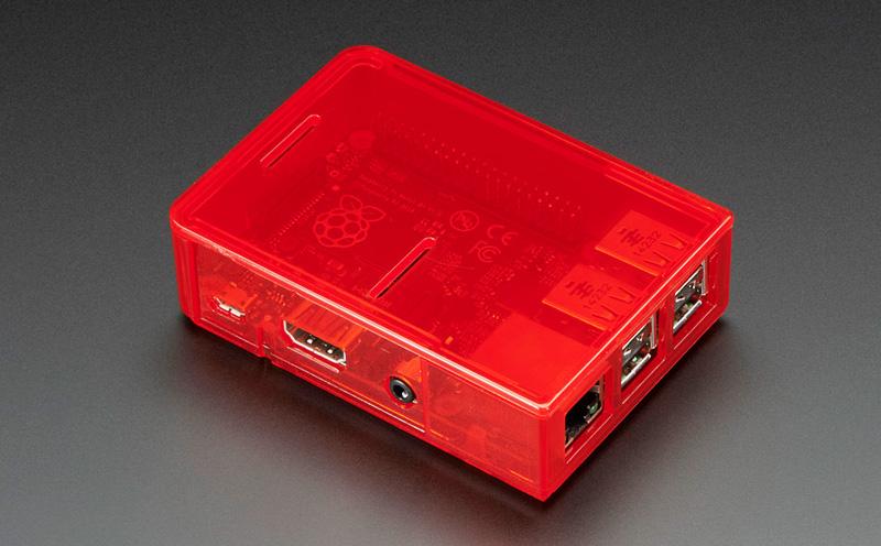Caixa para Raspberry Pi vermelha (B+/Pi 2/Pi 3)