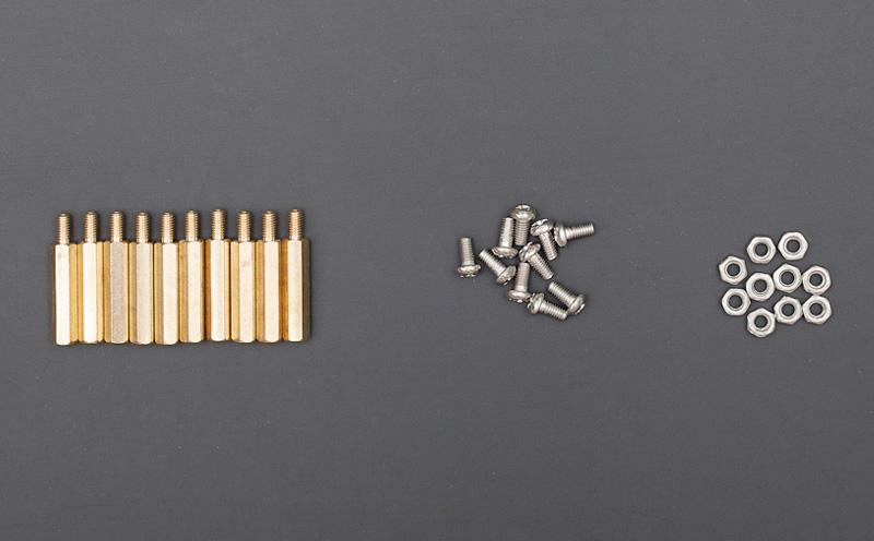 Conjunto de separadores hexagonais 20mm
