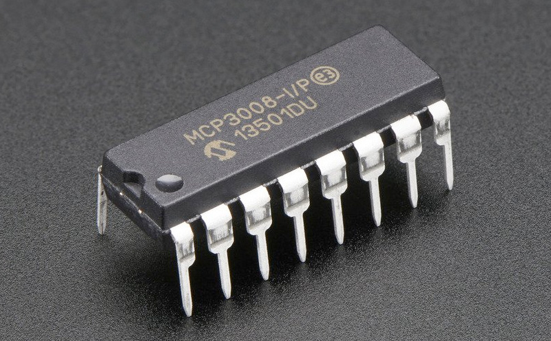 Conversor ADC 8 canais 10 bits MCP3008