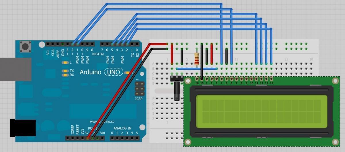 Comentário - Ligando o LCD