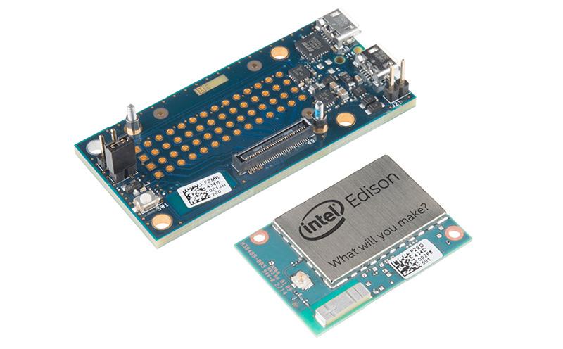 Edison Intel com placa de suporte