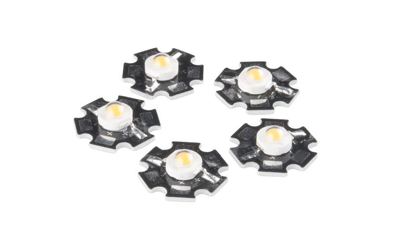 LED 3W branco PCB de alumínio – conjunto de 5 unidades