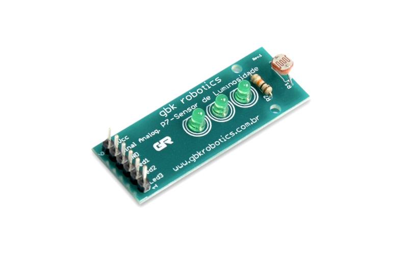 Módulo Sensor de Luz com LDR e LEDs sequenciais