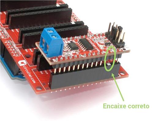 Conectores polarizados do Nanoshield