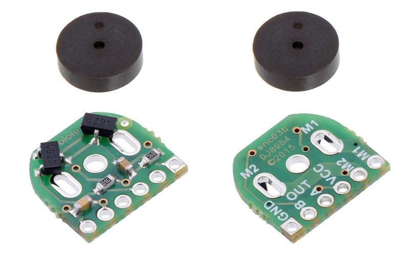 Par de encoders magnéticos para micro motores metálicos