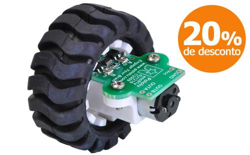 Conjunto de rodas e encoders - Pololu