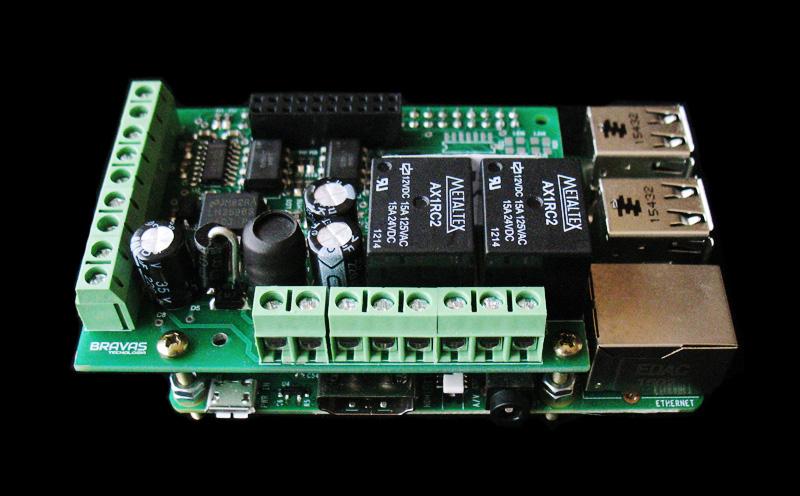 Shield de Automação para Raspberry Pi - Raspberry Pi 3 não incluído
