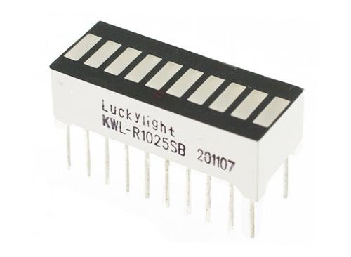 Barra de LEDs de 10 segmentos – vermelha