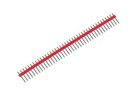 Barra de pinos – macho – vermelha