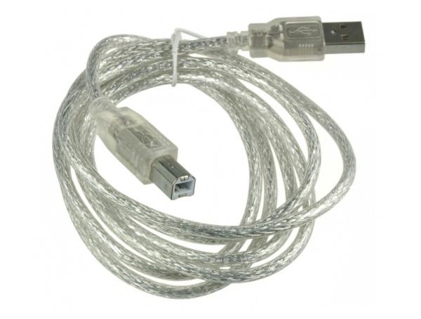 Cabo USB A-B transparente