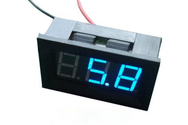 Voltímetro LED – azul
