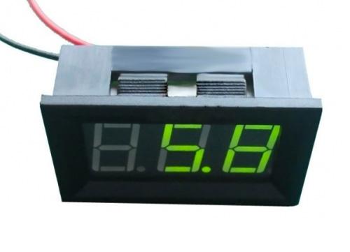 Voltímetro LED – verde
