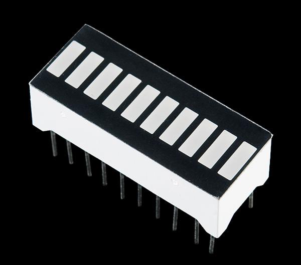 Barra de LEDs de 10 segmentos – amarela