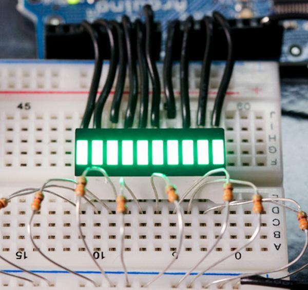 Barra de LEDs de 10 segmentos - verde