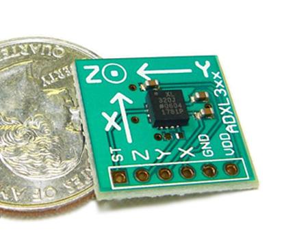 Placa com Acelerômetro ADXL322 +/-2g