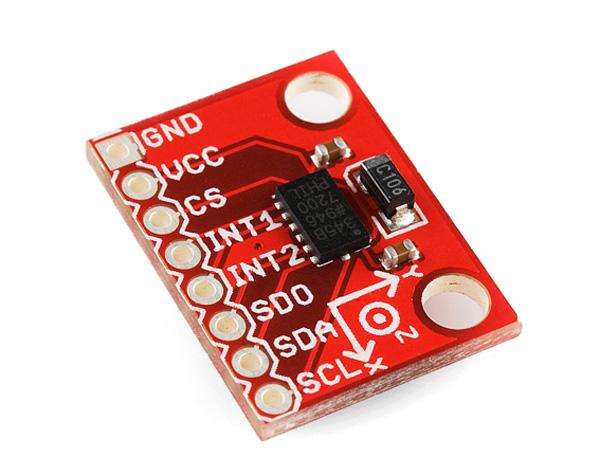 Placa com acelerômetro triaxial - ADXL345