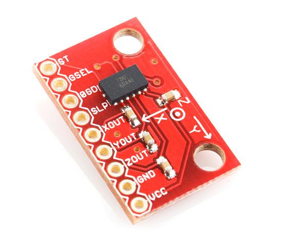 Placa com acelerômetro triaxial – MMA7361