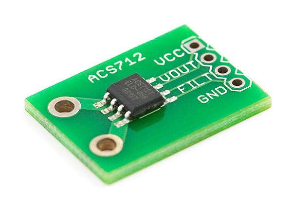Placa com sensor de corrente ACS712