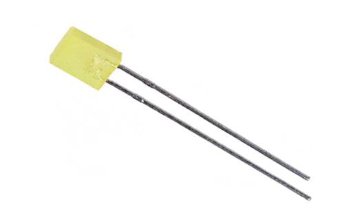 LED retangular amarelo - 10 unidades