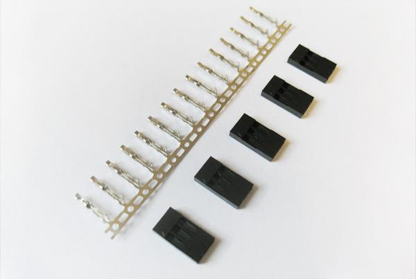 Conector crimp e encapsulamento 3x1 fêmea (conjunto com 5)