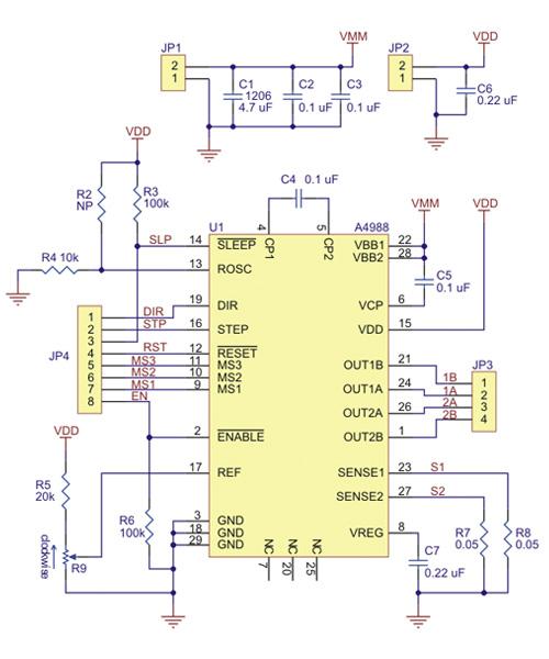Controlador de motor de passo A4988 Black Edition esquema 2