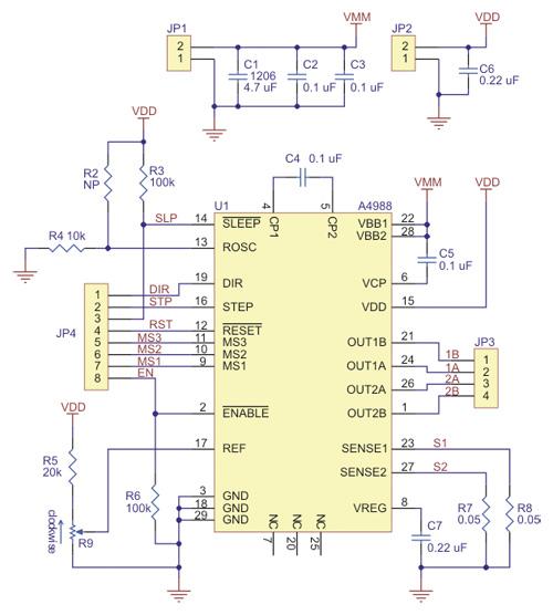 Controlador de motor de passo A4988
