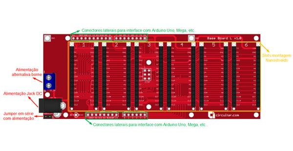 Base Board L para Arduino - esquema