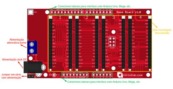 Base Board para Arduino - esquema