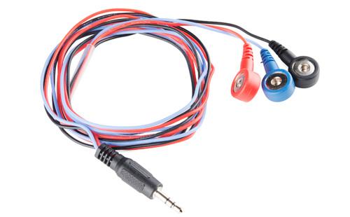 Cabo para eletrodos com 3 conectores