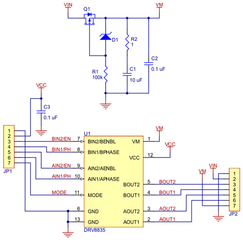 Controlador duplo para motores DRV8835