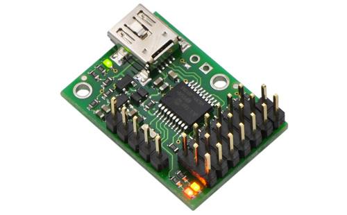 Controlador para servo motores USB Mini Maestro 6 canais