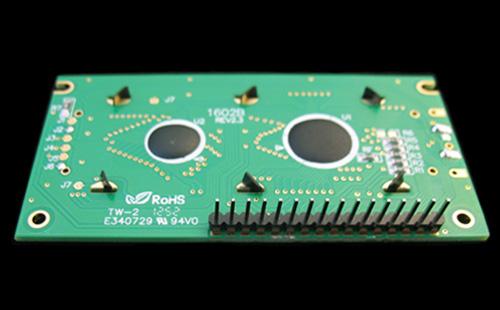 Display LCD 2x16 com conector soldado (verso)