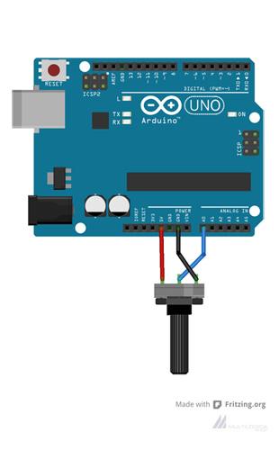 Arduino Exemplos: Entrada Analógica