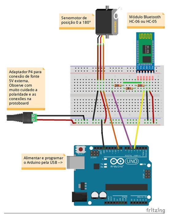 Servomotor Arduino Tinkercad