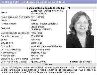 RUTH LEMOS CANDIDATA!
