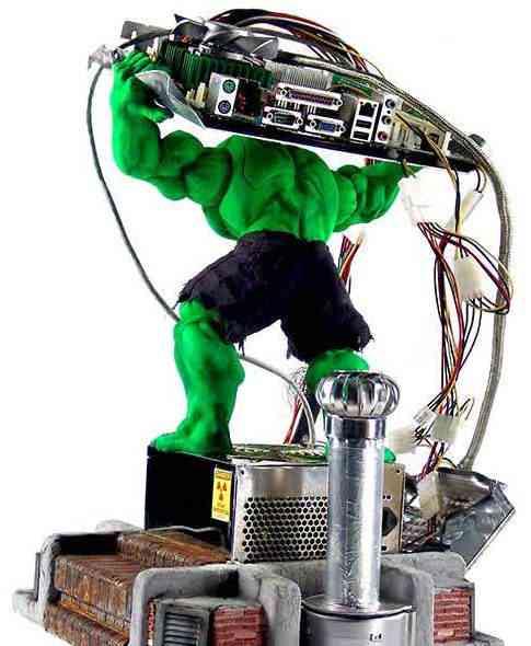 Hulk case mod