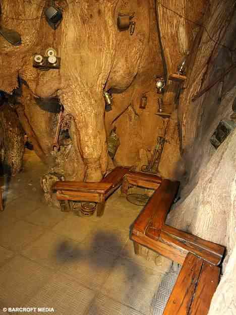 Lugar estranho para tomar uma birita: Dentro de uma árvore