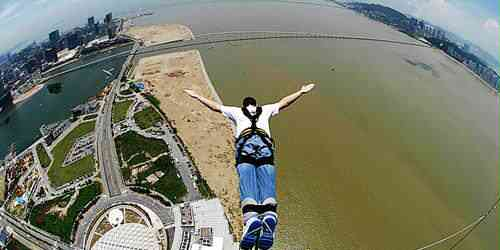 O mais alto bungee jump