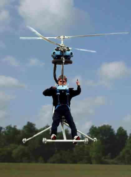 O incrível helicóptero pessoal