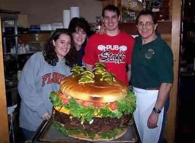 O maior hamburguer do mundo (de novo)