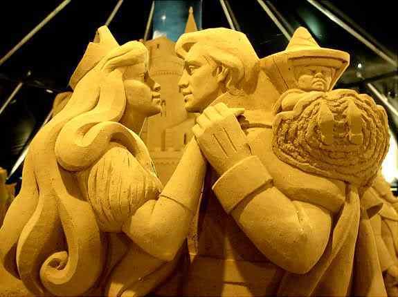 Incríveis esculturas de areia
