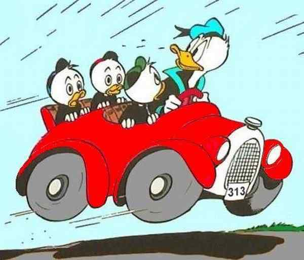Construiram o carro do Pato Donald
