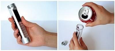 Um celular movido a Coca-Cola