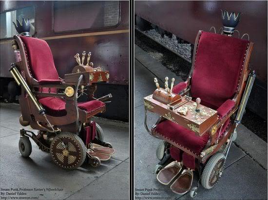 steampunk chair 01 Vxhhx 22976 A cadeira de rodas do Professor Xavier Steampunk