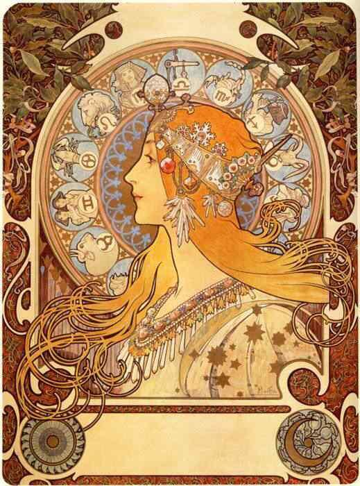 alphonsemuchazodiac Princesas Disney Art Nouveau