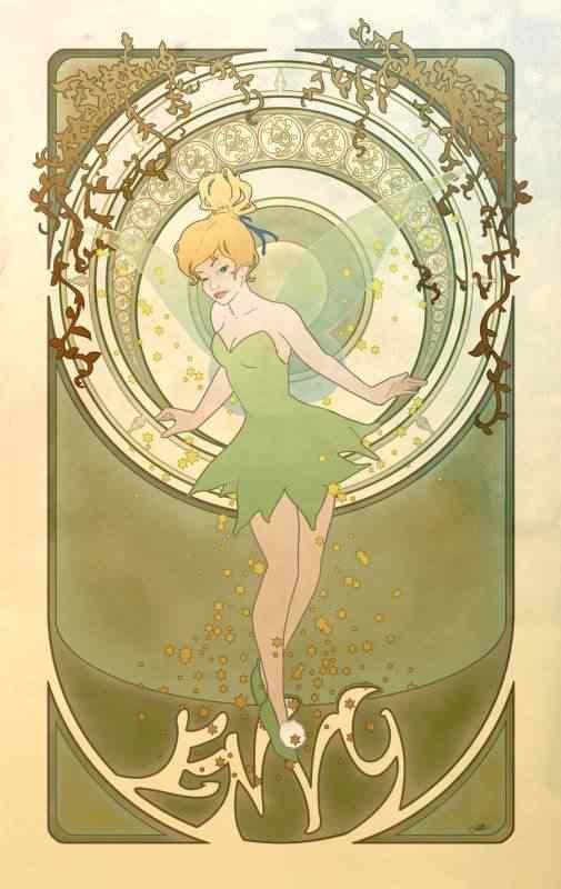 Princesas Disney Art Nouveau