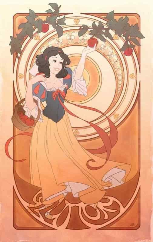 gluttony by chill07 d35fwlb 505x800 Princesas Disney Art Nouveau